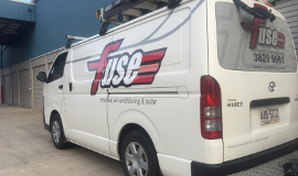 Capalaba Complete Self Storage - Fuse Electrical Van